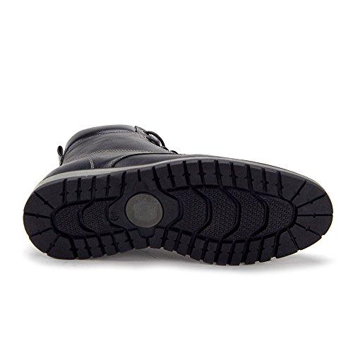 Jaime Aldo Mens C-2817 Tillfälliga Spets-up Sneakers Zippade Boots Svart
