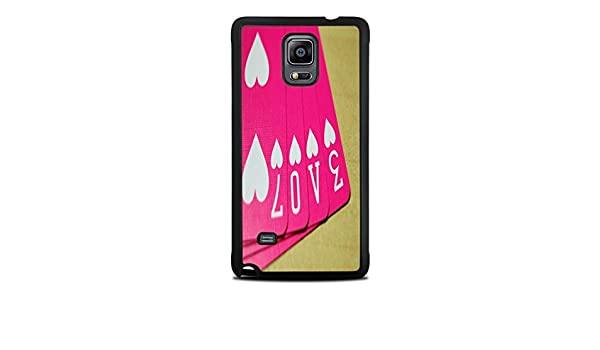 Amazon Love Cards Black Silicone Case For Galaxy Note 4 Cell Phones Accessories