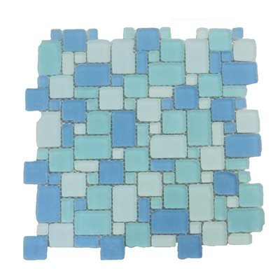 Glass tile mosaic Beach Glass Surf French Pattern