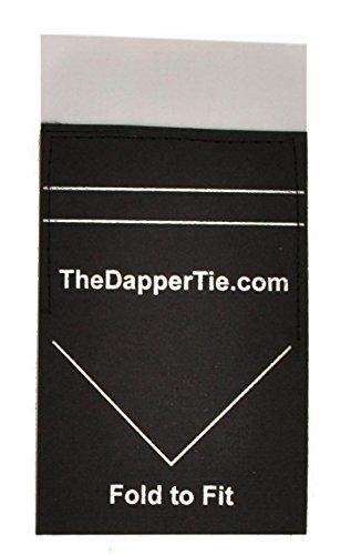 TheDapperTie - Men's Solid Flat Pre Folded Pocket Square on Card - - Mens Dapper