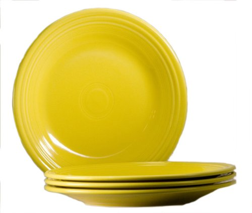 (Fiesta 10-1/2-Inch Dinner Plate, Sunflower, Set of 4)
