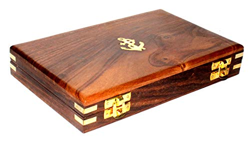 Proportional Divider Set of 5, Full Brass dividers with Executive Wooden Box, Single Handed 8'' Brass Navigational Dividers Compass Set for Maritime, Naval, Geometry and Drafting by 5MOONSUN5 (Image #3)