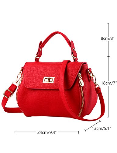 Marine Menschwear Ladies À Sac Pu Purse Rouge Bleu Bandoulière Grand Leather Womens xx7HZwv