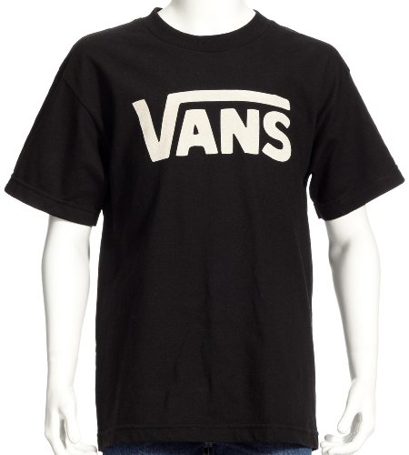 Vans Kids Boys Classic Tee (Big Kids), Black/White MD (10-12