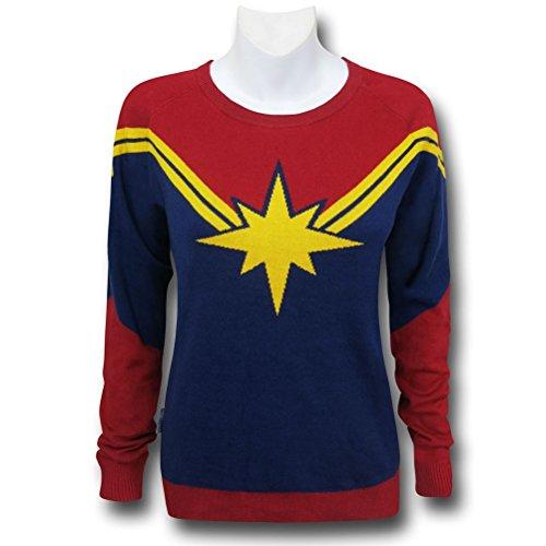 Captain Marvel Women's Costume Sweater- Slim XXLarge