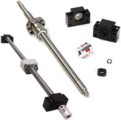 CHENBIN-BB モニターの電源360ミリメートルボールねじ1セットラッシュRM1605&ナット+ BF12 / BK12 + 6.35 * 10ミリメートルのCouplering