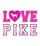 Pi Kappa Alpha Love Pike Graphic Unisex T Shirt by Fashion Greek Sport Gray Large