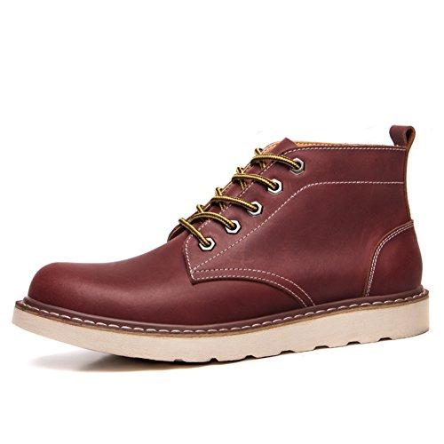 Herren freizeitschuhe kleid bergsteigen herbst outdoor [leise unten] stiefel rutschen schwarzbraun-Rot Fußlänge=40EU