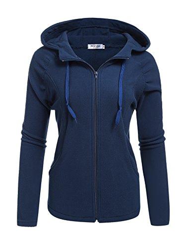Navy Blue Hooded Jacket - 5