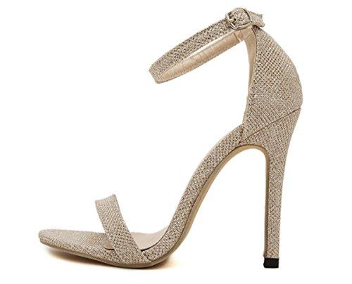 Donne 35-43 grandi pattini romani degli alti talloni dei sandali singola scarpa Scarpe Casual , gold , 39