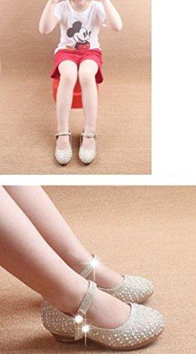 Mädchen Ohmais Weiß Sandalette Mädchen Ballerinas flach Kleinkinder Halbschuhe Sandalen Sandaletten Kinder Freizeit 56r6qxwOp