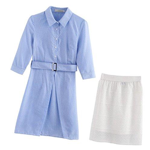 Los trabajadores de oficina Sypdress faldas vestido de temperamento dos conjuntos madura capaz Self-Cultivation 2017 Verano Mujer S
