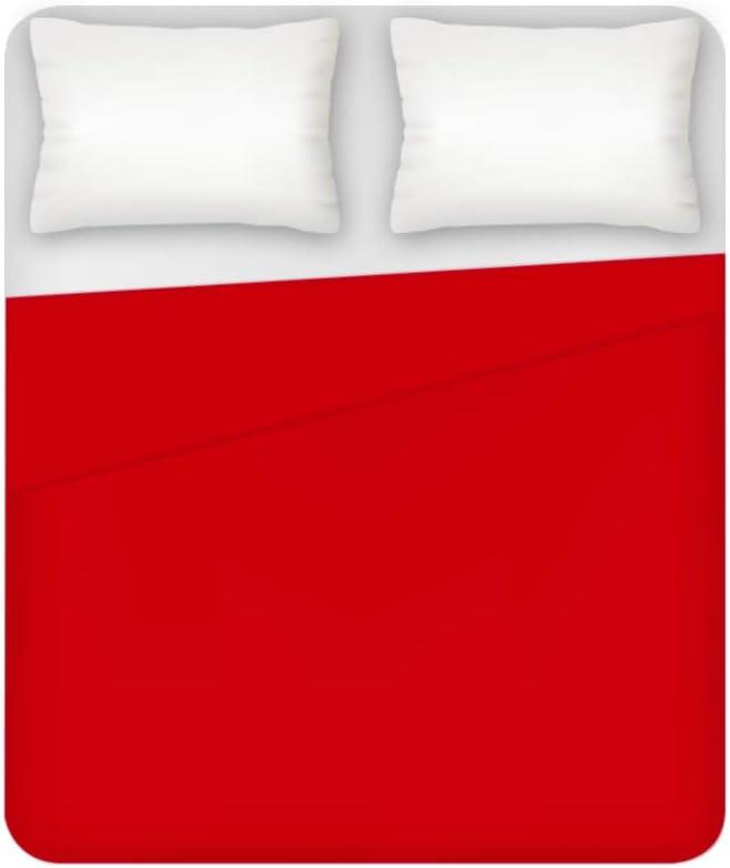 THEAILATI Lenzuolo sopra 2 Posti Maxi 100/% Cotone Tinta Unita Maestri Cotonieri Home-Bluette