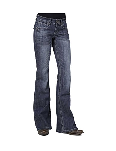 Stetson Womens 816 Classic Fit Flap V-Pocket Bootcut Jeans Plus - 11-054-0816-0720X Bu