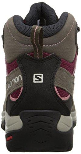 Salomon L37917900 ELLIPSE 2 MID LTR GTX W- Botas de senderismo para mujer con tecnología Gore Tex marrón burdeos