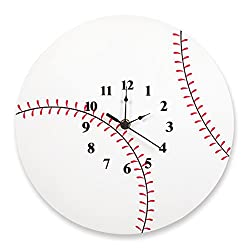 Trend Lab Baseball Wall Clock