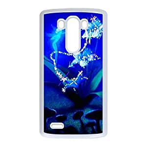Durable Rubber Cases LG G3 Cell Phone Case White Uesms Fantasia Protection Cover