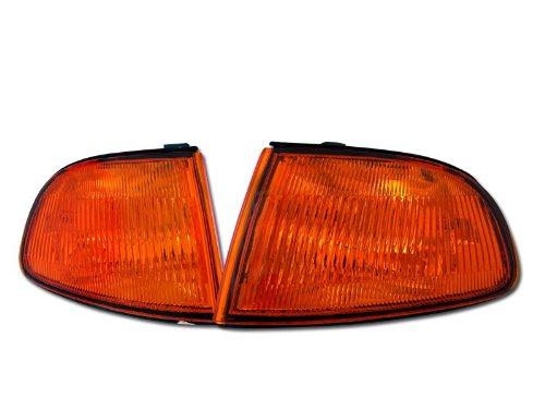 Velocity Concepts JDM Amber Lens Signal Parking Corner Lights Lamps YD 92-95 for Honda Civic 2D/3D EG6 ()