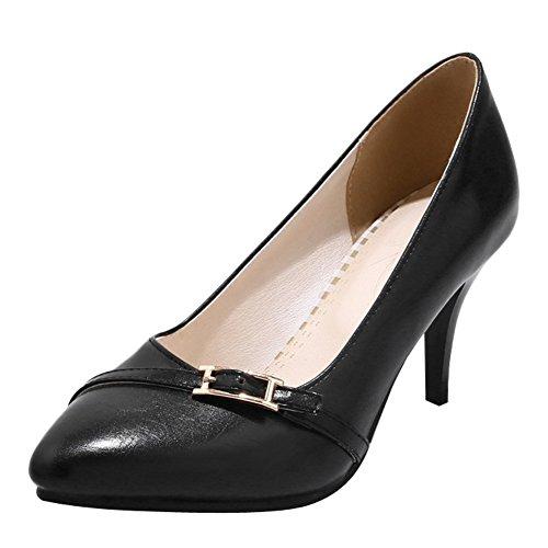 Charm Foot Womens Tacco Alto Scarpe Eleganti Scarpe A Punta Nere