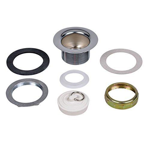 Brass Tray Plug - Tray Plug Sink Basket Strainer, Brass Body w/ Rubber Stopper for 2-1/2
