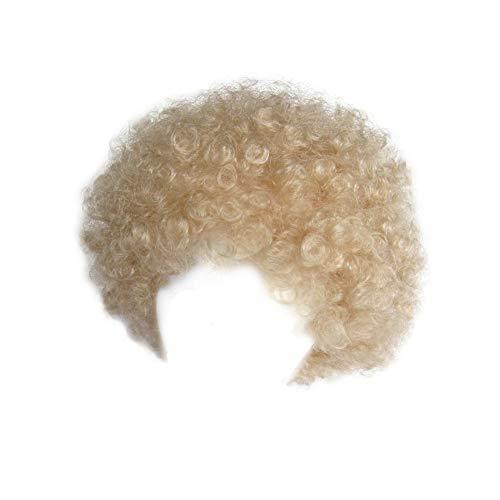 SeasonsTrading Economy Blonde Afro Wig ~ Halloween Costume Party Wig -