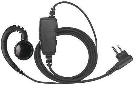 Throat Mic Headset For Motorola 2 Pin Radios CP200 PR400 CP185 BPR40 CP150 CP110