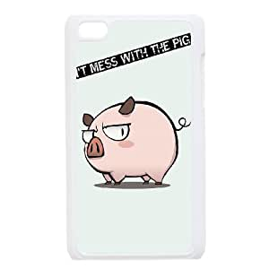 Funny Mess Pig iPod Touch 4 Case White Protect your phone BVS_752583