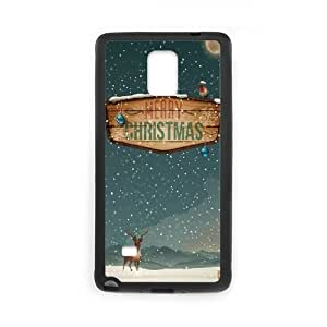 Merry Christmas Raindeer Presents Samsung Galaxy Note 4 Cell Phone Case Black Exquisite gift (SA_520952)