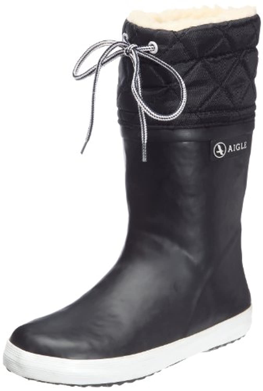 Aigle Giboulee Unisex Children's Boot, Multicoloured(Black/White), 3 Child UK (19 EU)