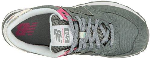 New Balance Femmes Wl574v1 Mode Sneaker Gunmetal / Exubérant Rose