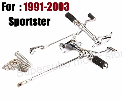 Chrome 1991-2003 sportster Forward Controls motorcycle shift linkage rod harley footrest sportster 883 foot pegs harley sportster forward control -