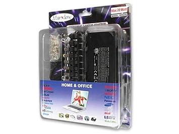 5-24 Volt/ 70W AC/DC Fuente de Alimentación Regulable Notebook Notepad Laptop Ordenador Portátil Adaptador Corriente Continua Transformador | Modelo: NT23: ...