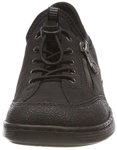 schwarz Infilare Donna Rieker schwarz 00 Sneaker schwarz Nero M3569 wHtYErYqxO