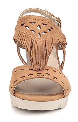 Flexx Marrone Sandalo Donna Wow Pow Zeppa The HSq6fwOSa
