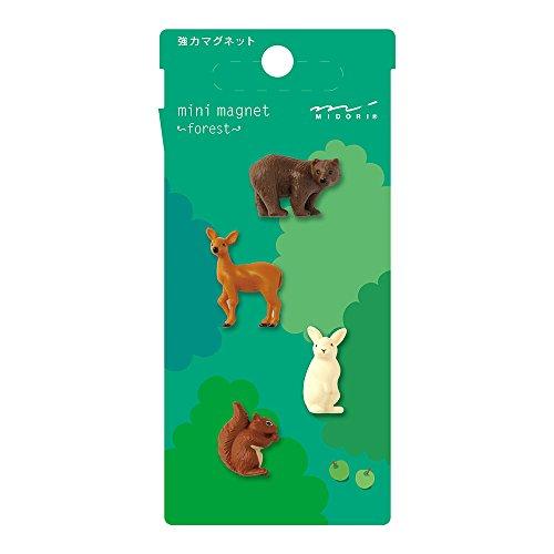 Midori Mini Magnet, Forest Animals (49758006)