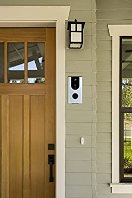 Battery Powered Wi-Fi Video Doorbell Camera, Wireless Doorbell Camera with Built in 8G card, Motion Detection, Night Vision, with Two Way Audio works with Iphone and Android by Eleganci Home