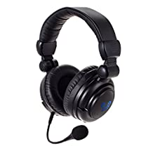 HUHD® 2.4Ghz Optical Wireless Stereo Vibration Gaming Headset HW-933MI for Xbox One/360, PS4/3, PC, Mac and TV with Detachable Microphone