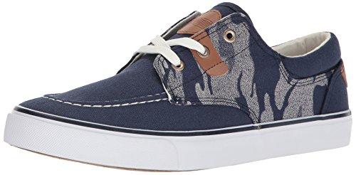 Uniebay Heren Camo Lage Top Sneaker Marine