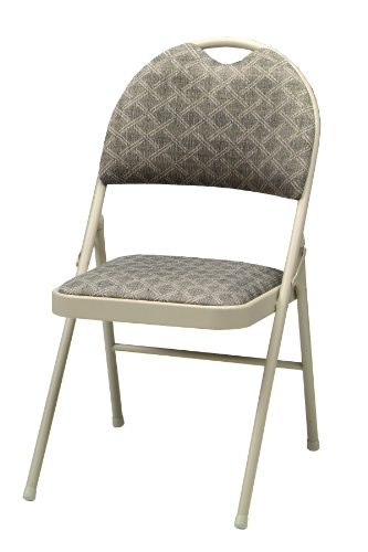 MECO 4-Pack Double Padded High Back Chair, Buff Frame and Zuni Fabric Seat and Back