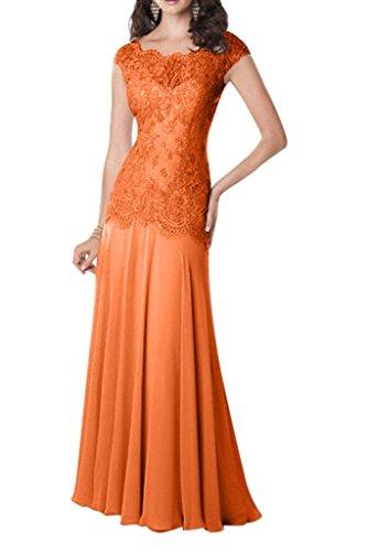 Orange Ballkleider Etuikleider Bodenlang Elegant Braut Kleider Jugendweihe mia La Abendkleider Brautmutterkleider Spitze q6XzP