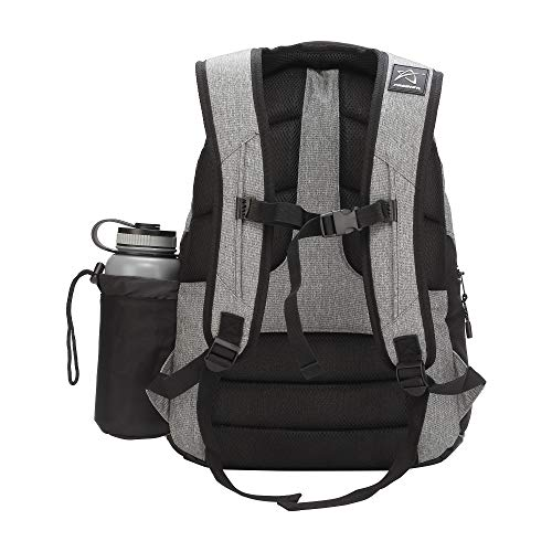 Prodigy Disc BP-3 V2 Disc Golf Backpack - Fits 17 Discs - Beginner Friendly, Affordable (Heather Gray/Black) by Prodigy Disc (Image #1)