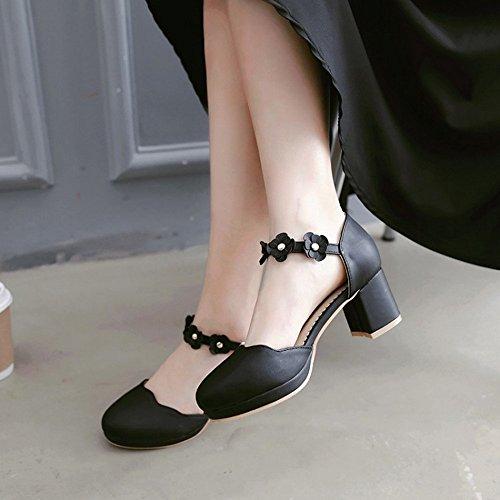 Toe Sandalias Bajos Verano Sandalias Alto Chanclas Peep LI heelsWomen BAJIAN Zapatos señoras Zapatos qnHWYxP