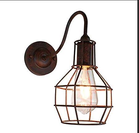 Lámpara de Pared Jaula de Alambre Aplique de Pared Industrial ...