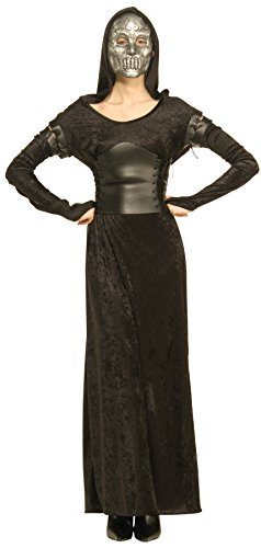 Harry Potter Bellatrix Lestrange Costume (UHC Bellatrix Lestrange Harry Potter Death Eater Fancy Dress Halloween Costume, OS)