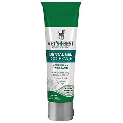 Vet's Best Enzymatic Dental Gel Toothpaste for Dogs, 3.5 oz, USA Made (Best Care Cat Veterinarians)