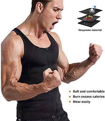 Litthing Chaleco Deportivo para Hombres Faja Reductora Adelgazante Térmica Compresión Muscular Vest para Quemar Grasa Pérdida de Peso Sudoración Sauna Gimnasio con Cremallera(Negro, S): Amazon.es: Deportes y aire libre