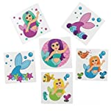 DollarItemDirect 2'' Mermaid Tattoos, Case of 60