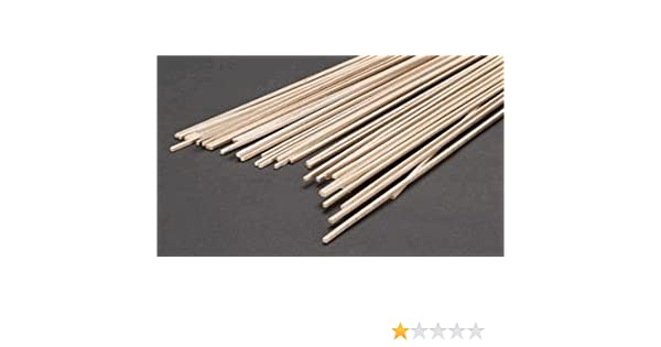 SAUNDERS MIDWEST 6033 Balsa Wood 1 Piece Dowel Rod 3//32 x 3//32 x 36 inches Multicolor