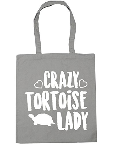 Tote Grey Bag Light Shopping Beach 10 x38cm Crazy tortoise lady litres HippoWarehouse Gym 42cm q0OtTxw
