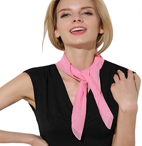 Neck Scarf Pink Scarf 50's Scarf 50's Accessories for -